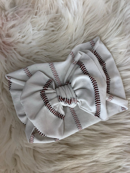 Baseball print headwrap