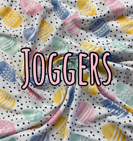 Pastel Easter eggs joggers