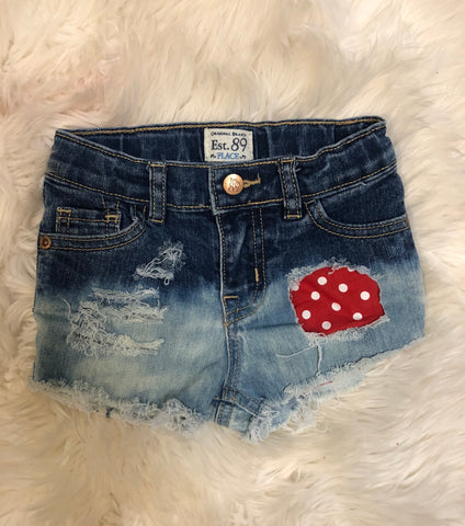 Polka dot patch ombre shorties