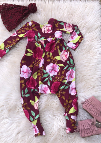 Adelaide floral fall bubble romper