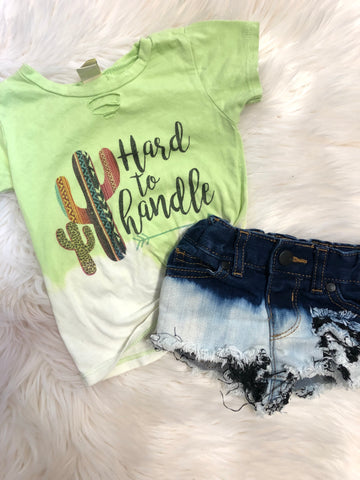 Hard to handle distressed tee