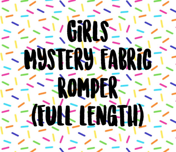 Mystery Fabric GIRLS Full Length Romper (NO BAND)