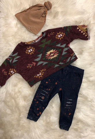 Crop sweater outfit bundle