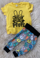 Chillin with my peeps jogger SET