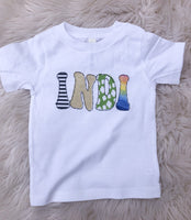 Personalized over the rainbow tee
