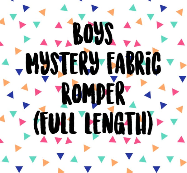 Mystery Fabric BOYS Full Length Romper (NO BAND)