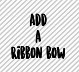 add a  ribbon bow on CLIP