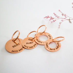Classic Copper Dog or Cat Name Tag
