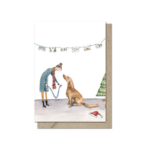 Festive Walkies Greeting Card