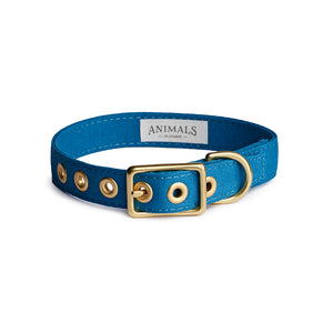 Ocean Blue + Brass All Weather Collar