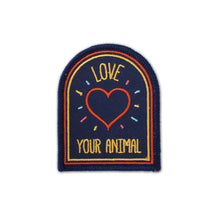 Load image into Gallery viewer, Love Your Animal Iron-on Embroidered Patch