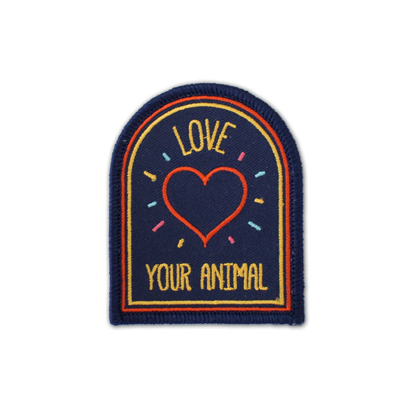 Love Your Animal Iron-on Embroidered Patch