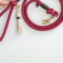 Load image into Gallery viewer, Plum Red Organic Cotton Rope Dog Leash