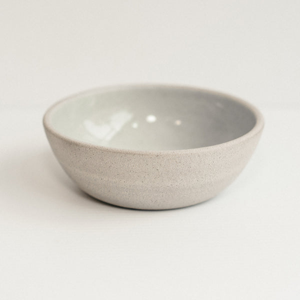 Raw Edge Stoneware Dog Bowl