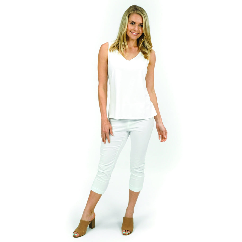 Vee Cami Top 2007- White,top, Latutti,- Style Collective
