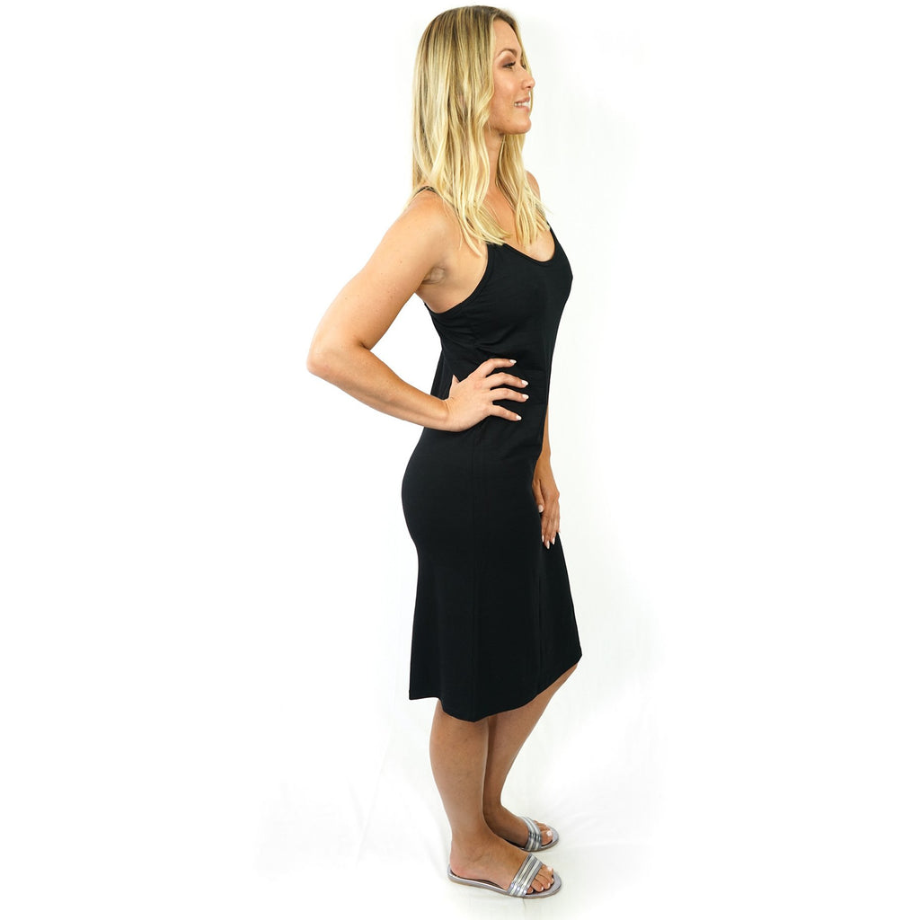 Slip Black Stretch Jersey,slip, Latutti,- Style Collective