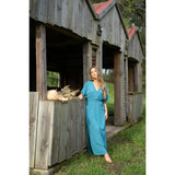 Amalfi Maxi Dress-Mosaic Blue