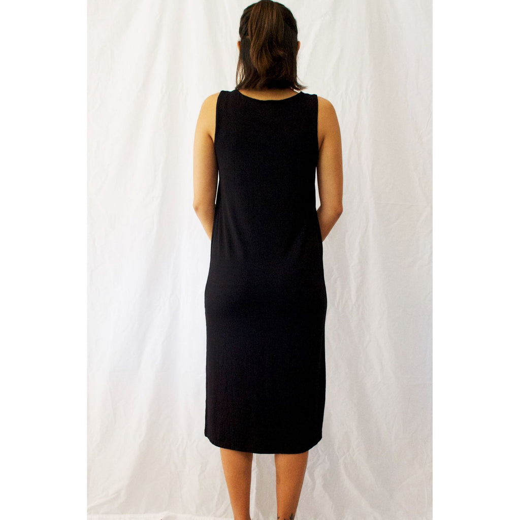 Milano Midi Dress-Black