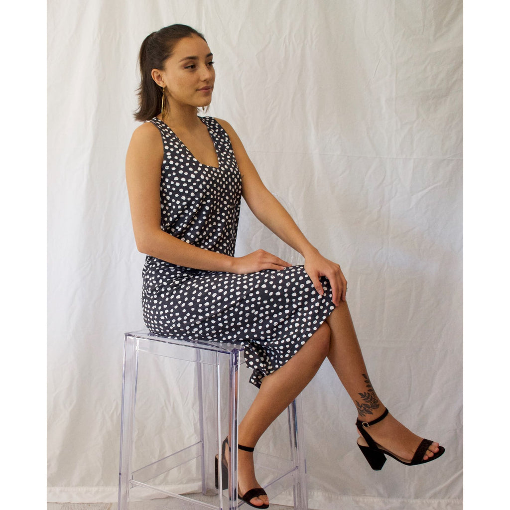 Milano Midi Dress-Random Dots