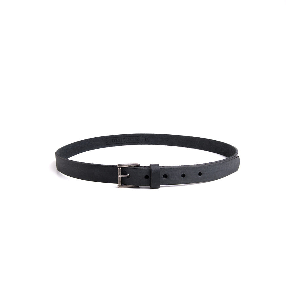 B25 Belt-Black,Belts, Stitch & Hide- Style Collective