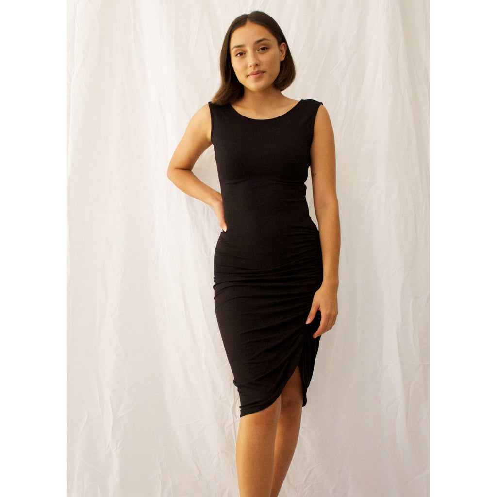 Slinky Dress LJ221-Black