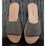 Suede Slide-Taupe Suede,Shoes, Latutti,- Style Collective