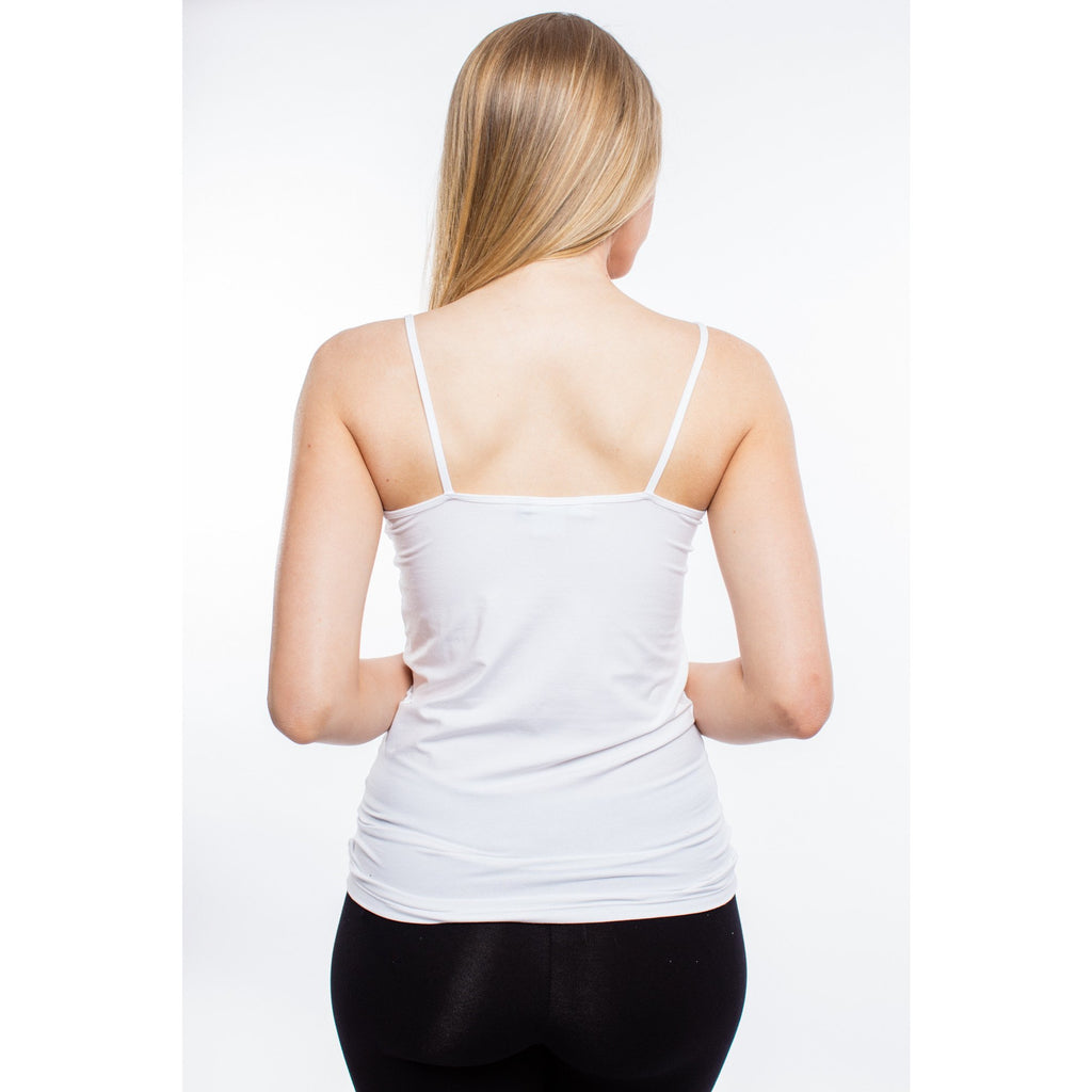 strappy cami top stretch fabric white,cami top, Tropical Batique- Style Collective