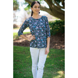 Amy Top-Baby Breath Print,Top, Latutti,- Style Collective