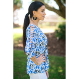 Amy Top-Blue Geo,Top, Latutti,- Style Collective