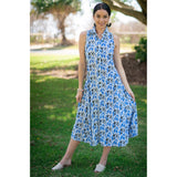 Marseille Dress-Blue Geo,Dress, Latutti,- Style Collective