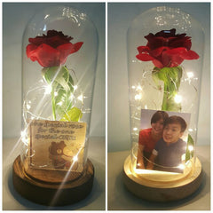 rose jar with lights
