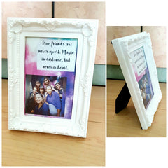 personalized message photo frame