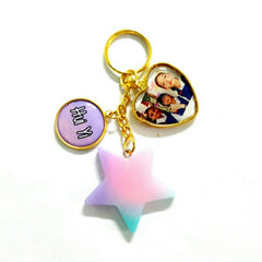 ombre star keychains custom