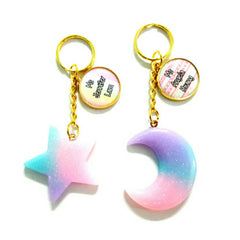 ombre moon keychains custom