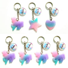 ombre keychains custom