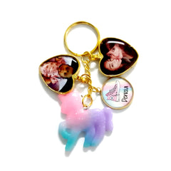 ombre unicorn keychains custom