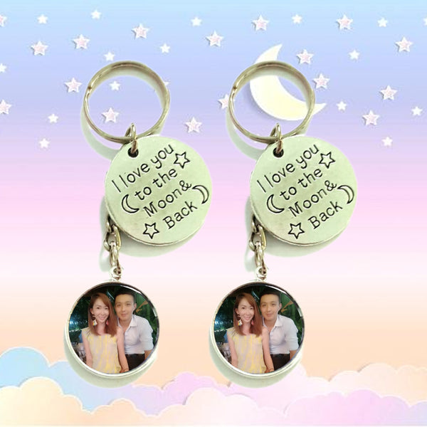 Love You to the Moon and Back Keychains