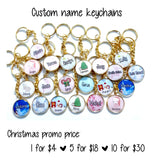 Christmas Name Keychains