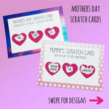 Mothers Day Scratch Cards