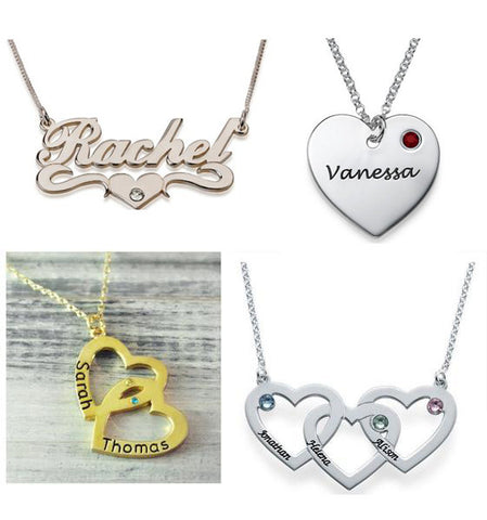 Name Heart Necklaces