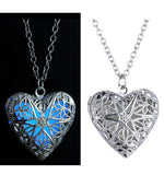 Glow In The Dark Heart Necklaces