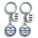 Best Bitches Keychains [Set of 2]