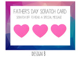 Fathers Day Scratch Cards