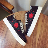 Rose Embroidered Shoes