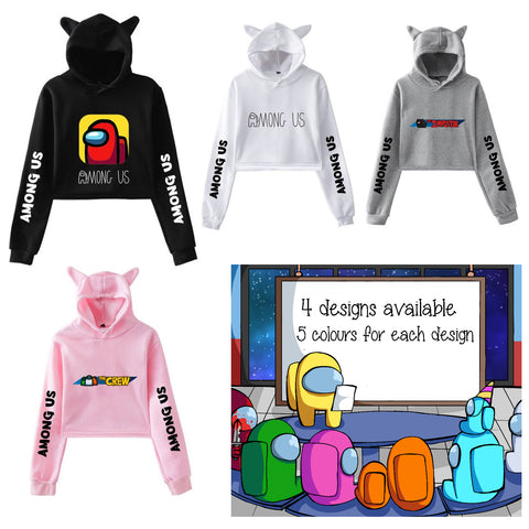 Among Us Cat Ears Hoodie