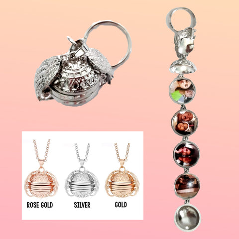 Angel Wings Photo Locket