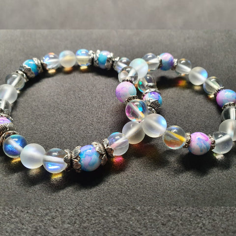 Aurora Mermaid Glass Bracelets