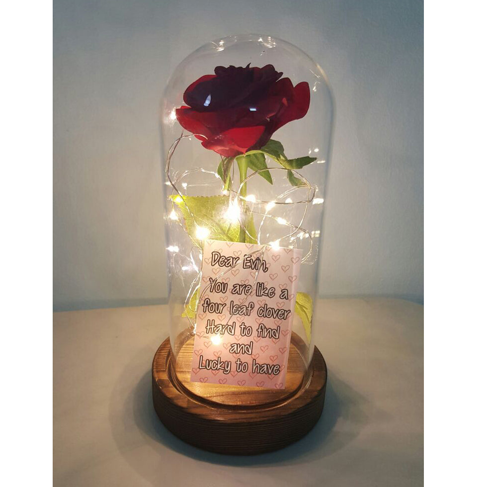 Beauty and the beast rose jar with lights charm mali charm beauty and the beast rose jar with lights izmirmasajfo Choice Image