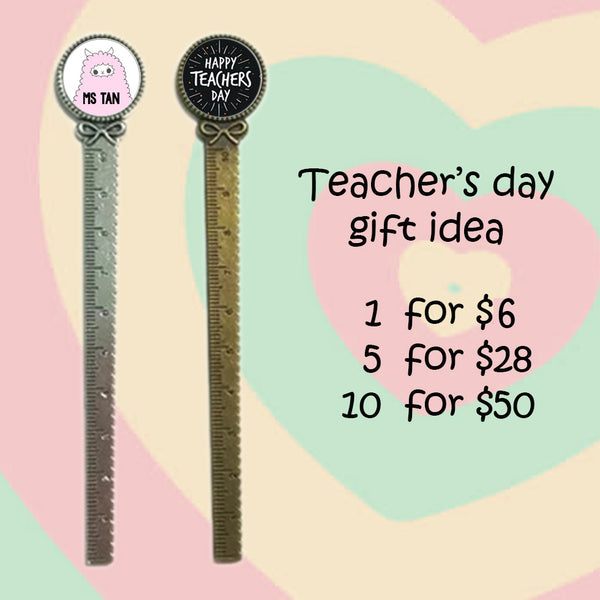 Teachers Day Bookmark Rulers