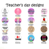 Teachers Day Keychains - One Circle Charm